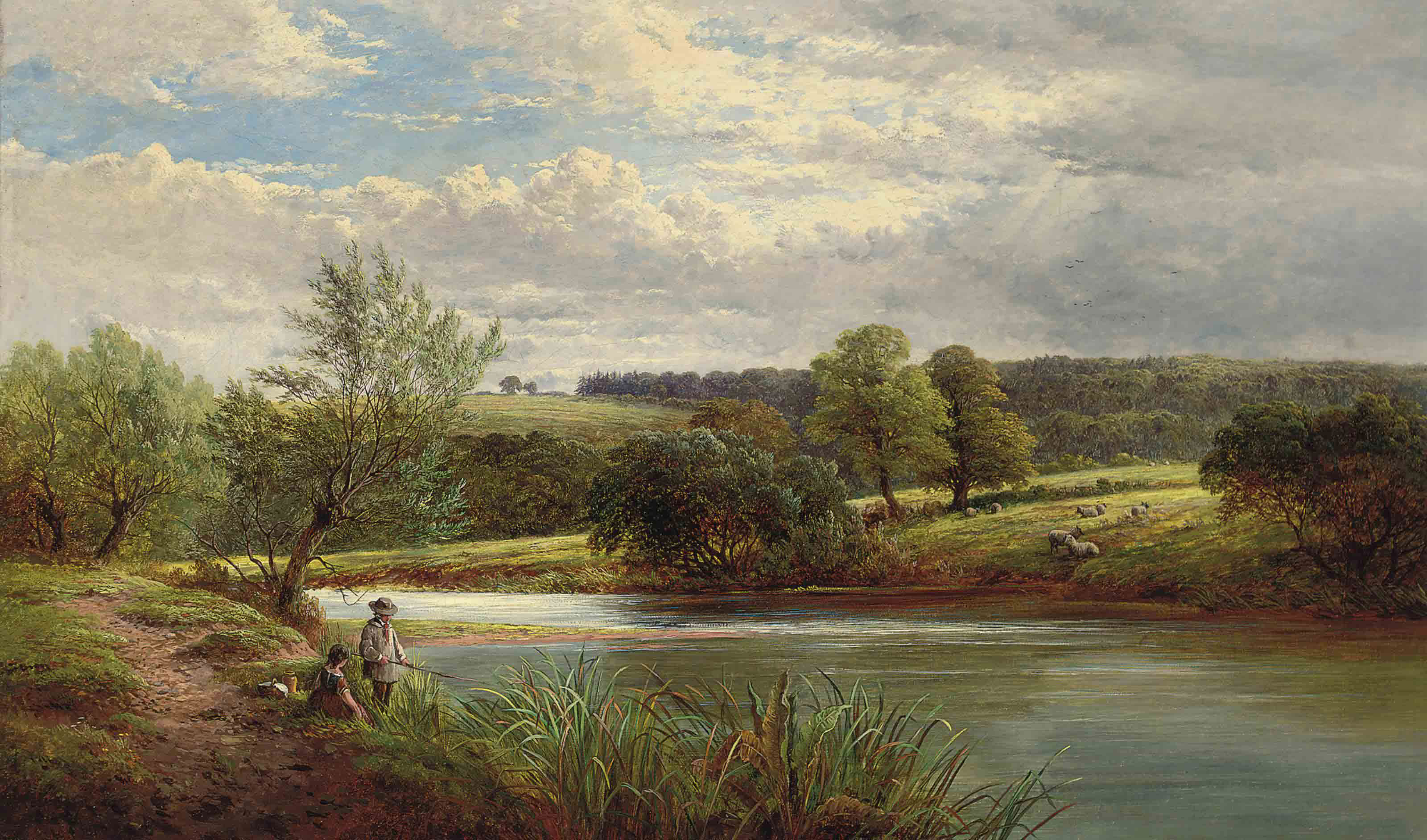 A day's fishing on the river