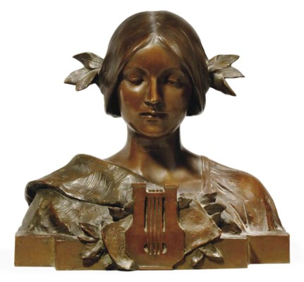 'ERATO' A COLD-PAINTED BRONZE