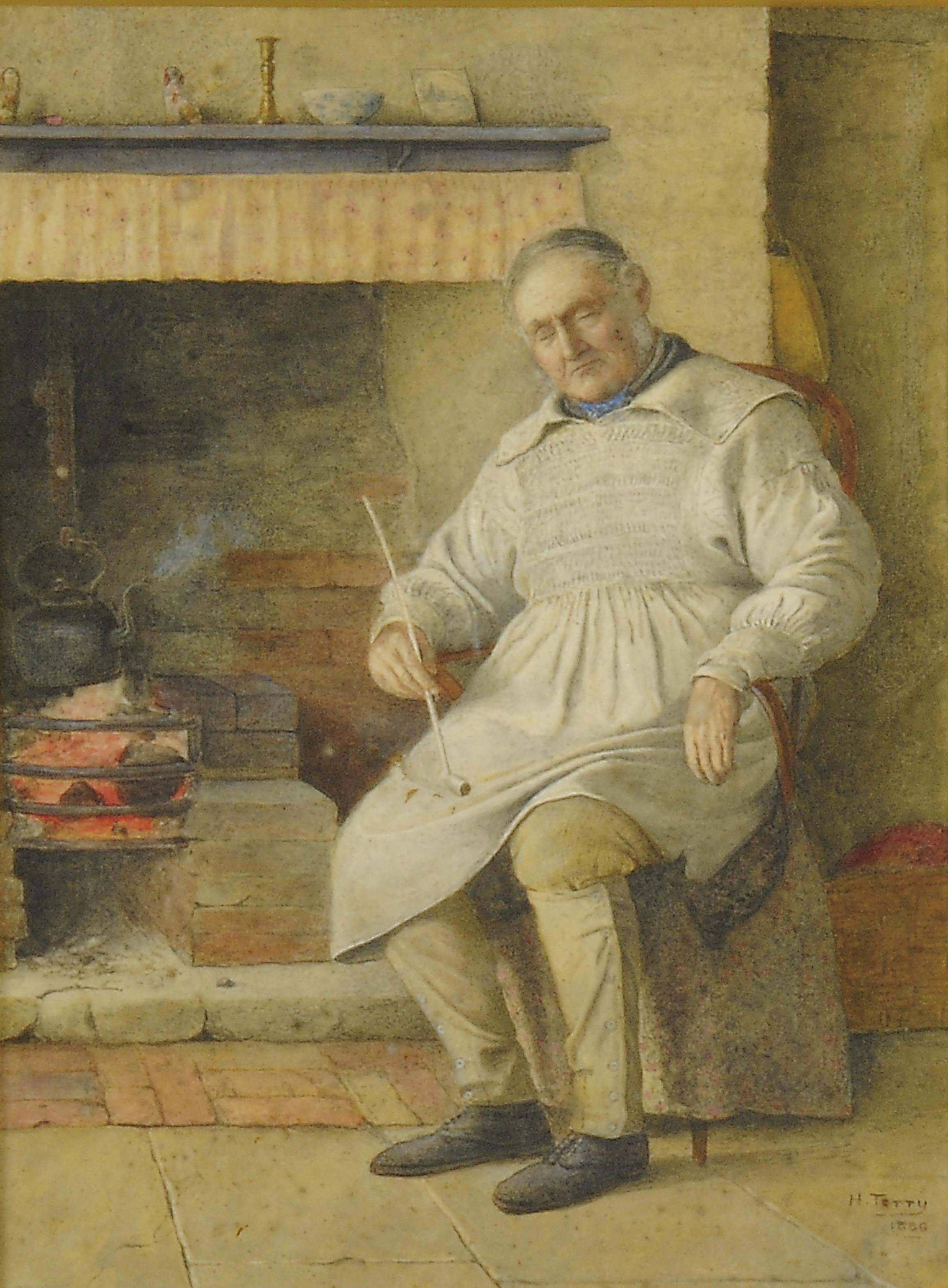 Resting by the hearth