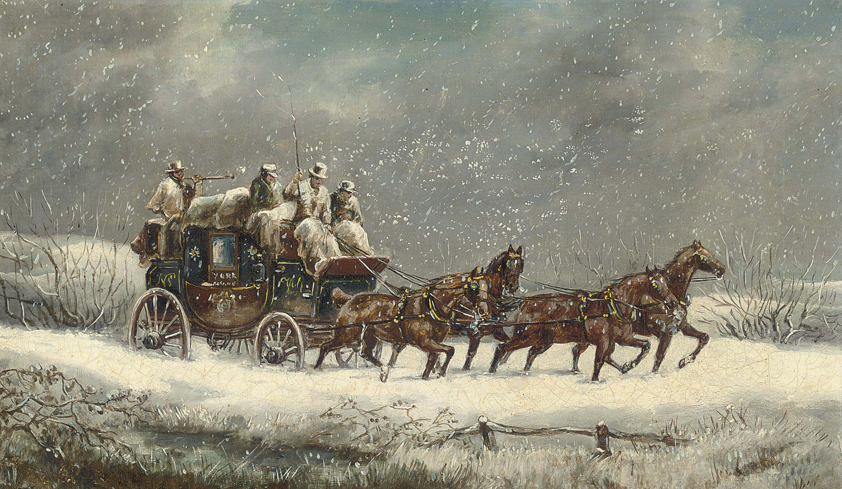 The York mail coach