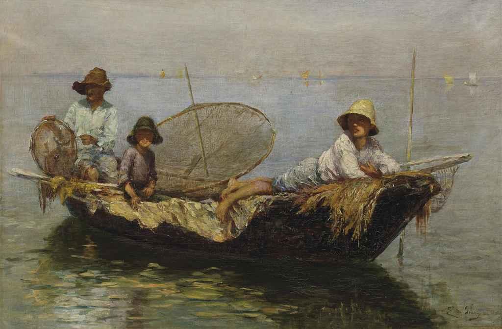 Les pêcheurs sur le lac