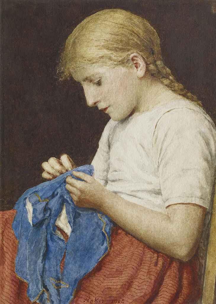 Die kleine Näherin, 1908