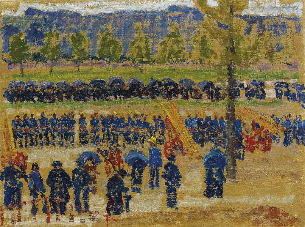 Feuerwehrübung in Fribourg, 1911