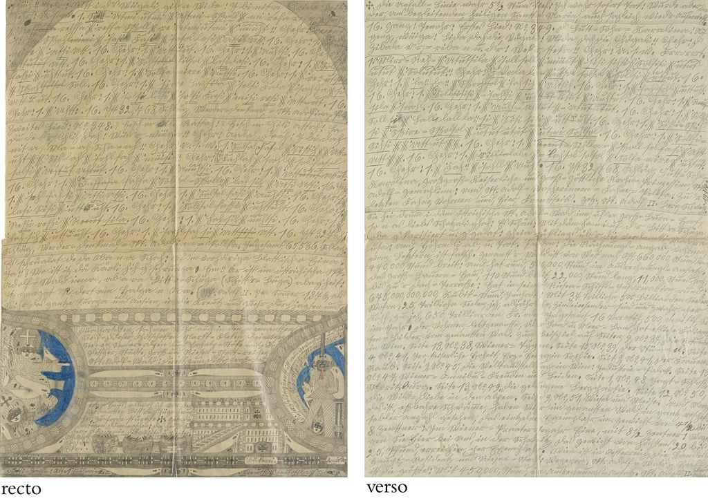 Blatt aus 'Buch 15', 1917 (recto/verso) recto: S. 416a 'Hellveetia und Lutt=Wohn=Karolina' verso: S. 416b