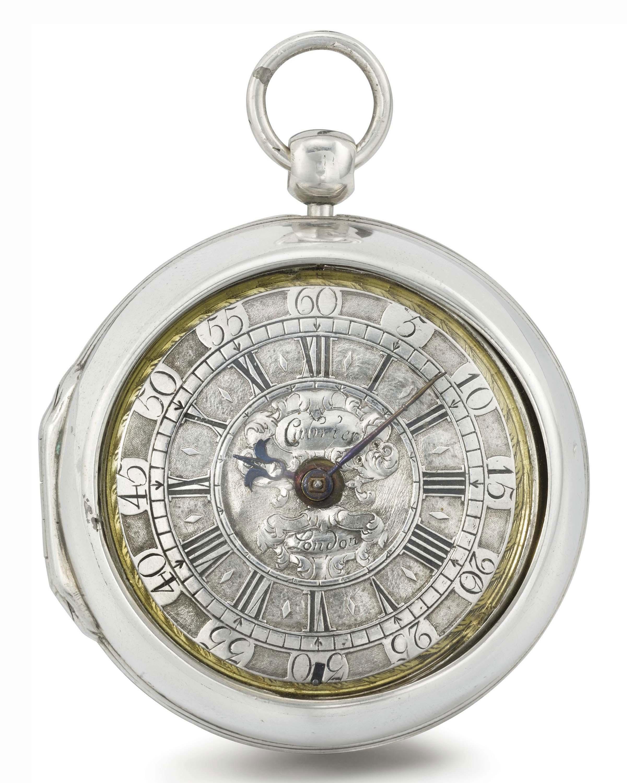 Cabrier. A rare silver pair case verge watch