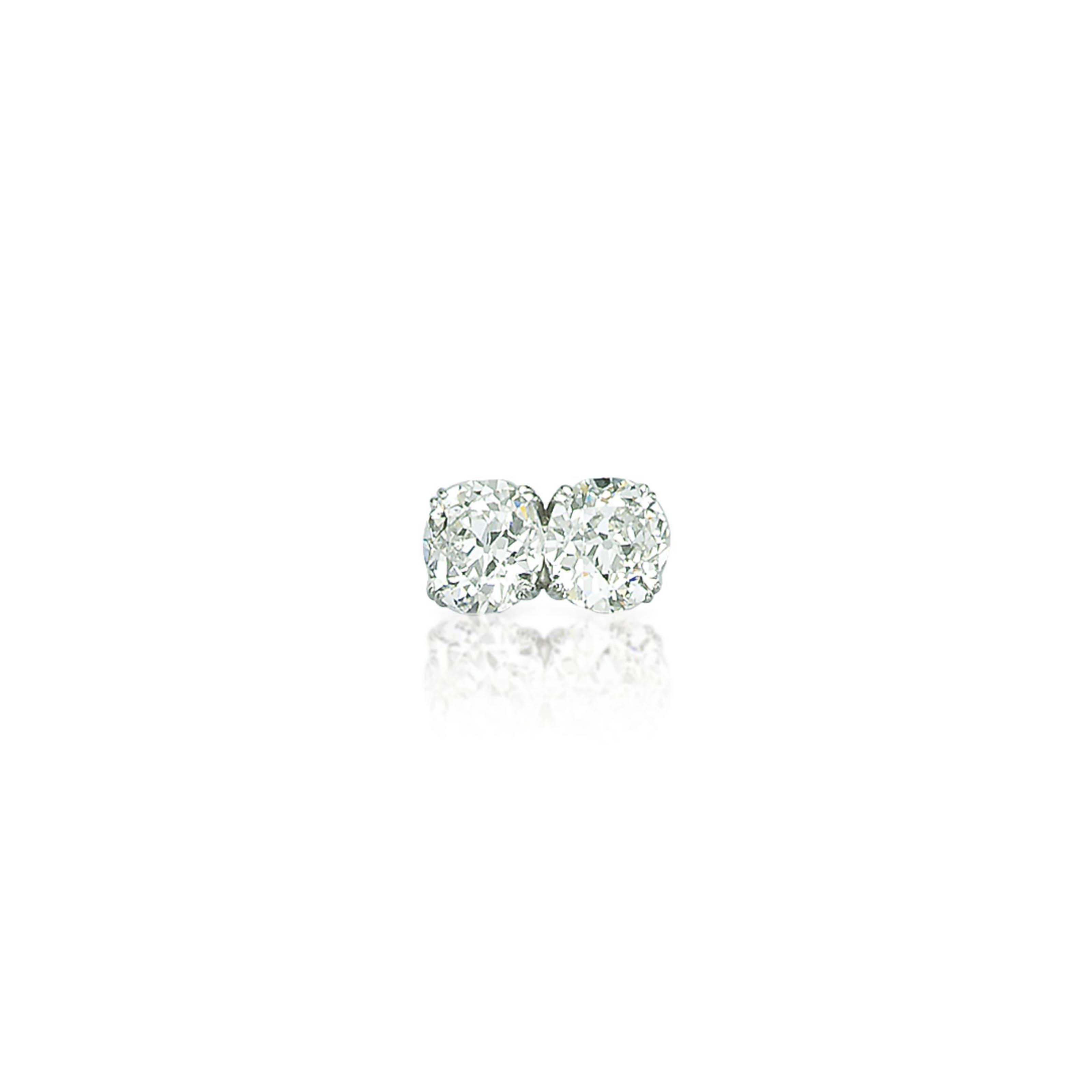 A DIAMOND 'TOI ET MOI' RING, BY GÜBELIN