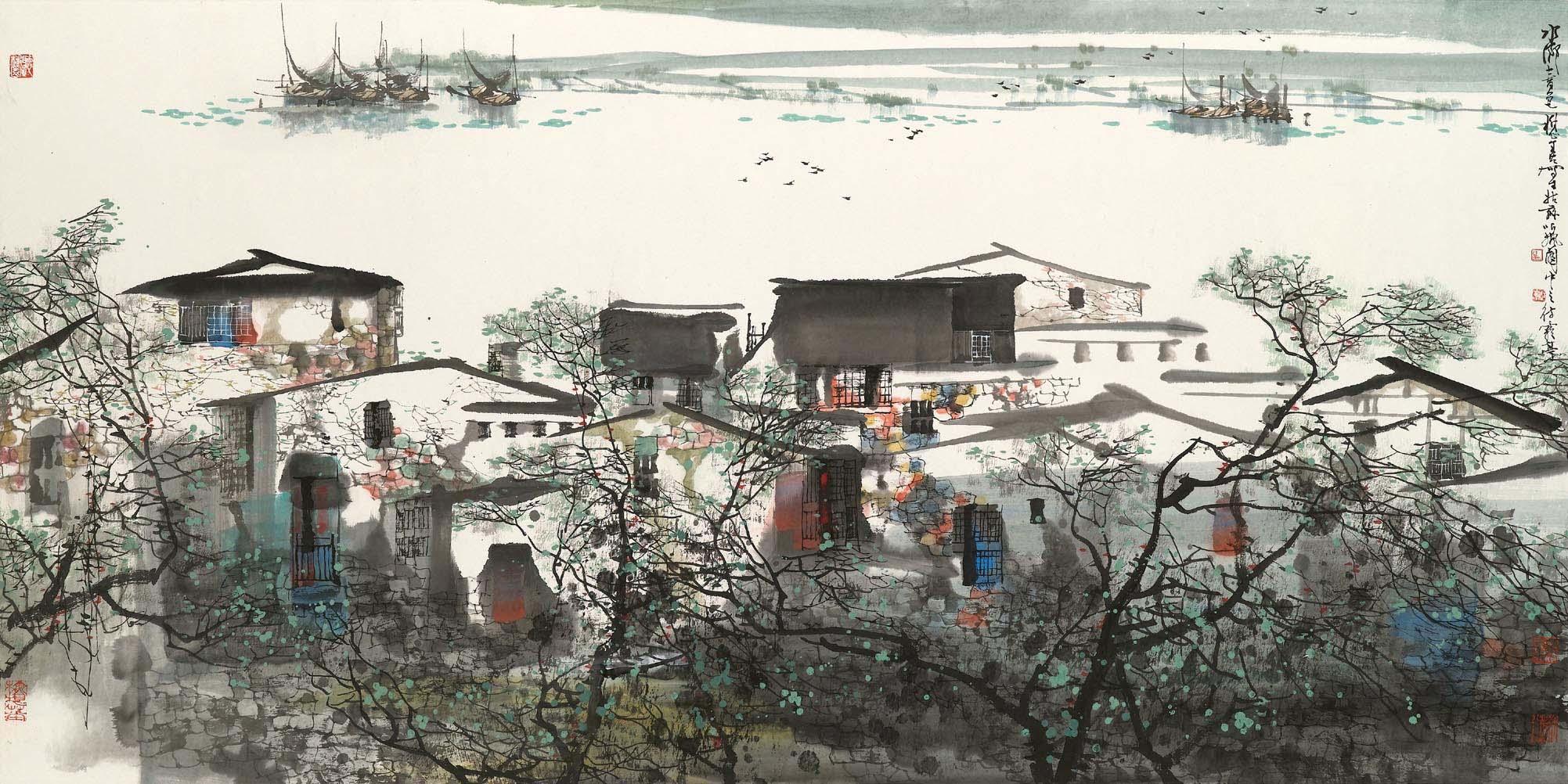 Water  Village in Spring