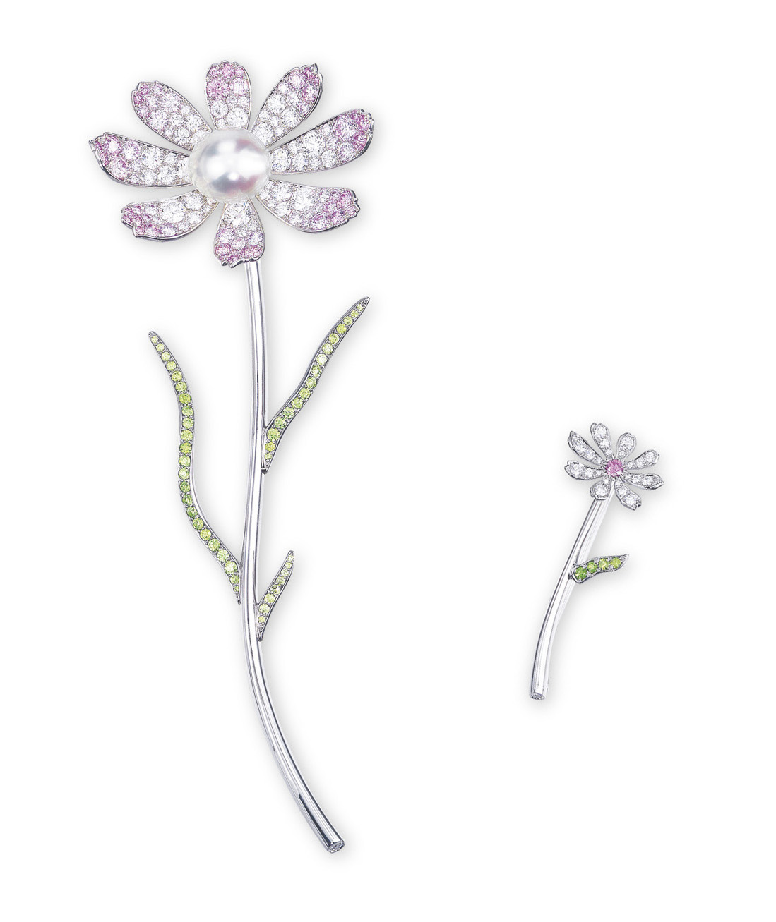 A PAIR OF MULTI-GEM BROOCHES, BY GIMEL