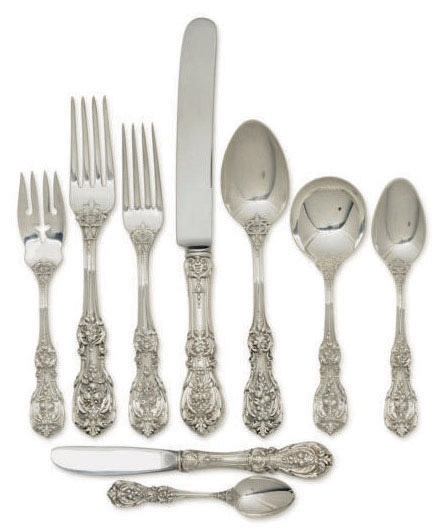 AN AMERICAN PART FLATWARE SERVICE IN THE 'FRANCIS I' PATTERN,