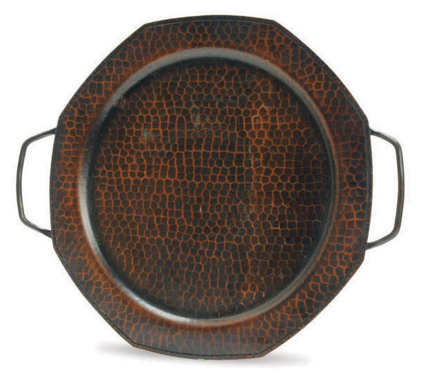 AN AMERICAN ARTS AND CRAFTS COPPER TRAY,