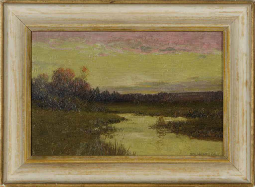 Sunset over a marsh