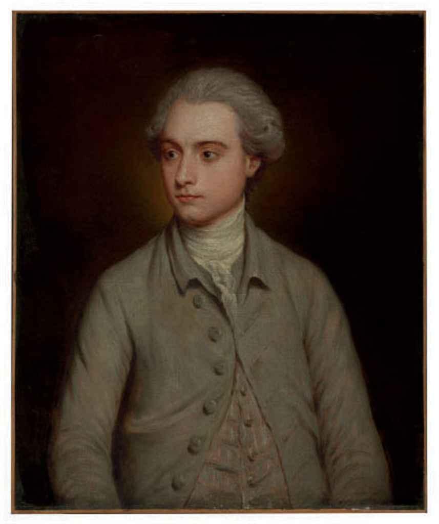 Portrait of a gentleman, half-length, in a grey coat