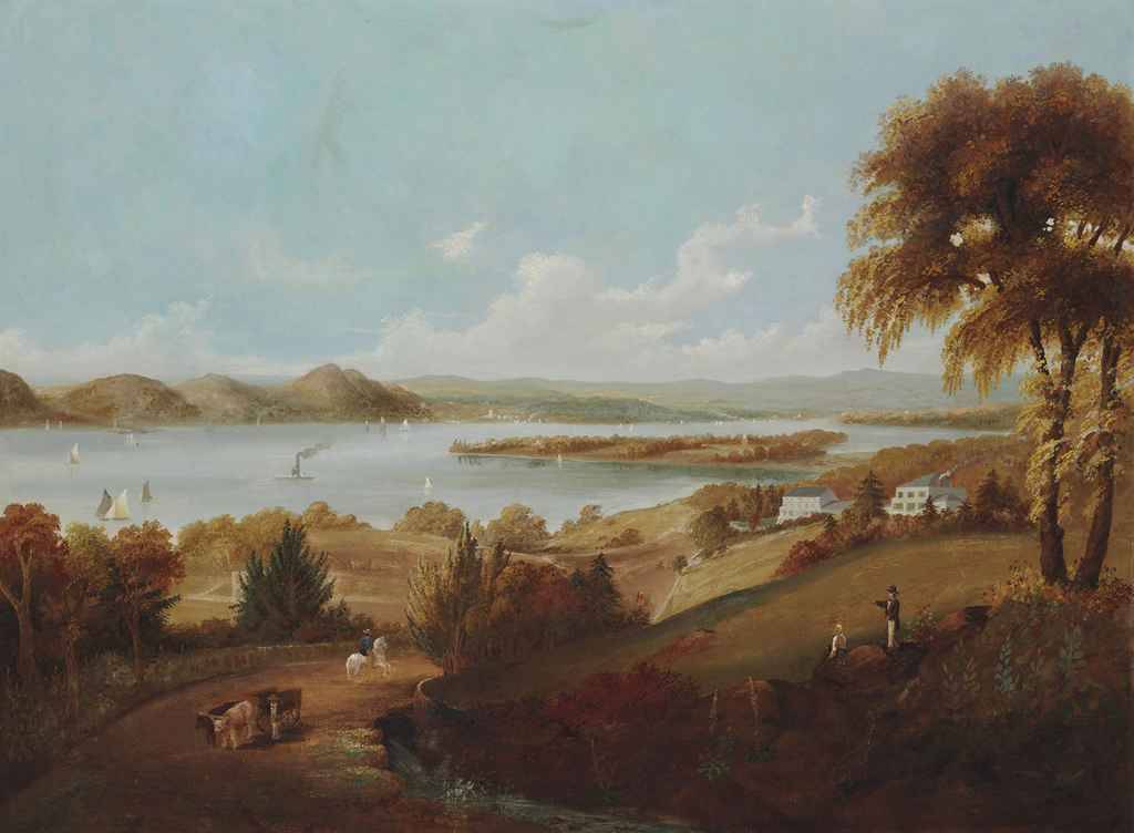 View of Croton Point from Sing Sing, New York