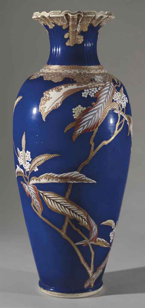 A large earthenware vase