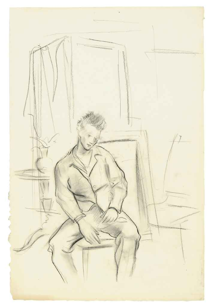 Seated man in an interior
