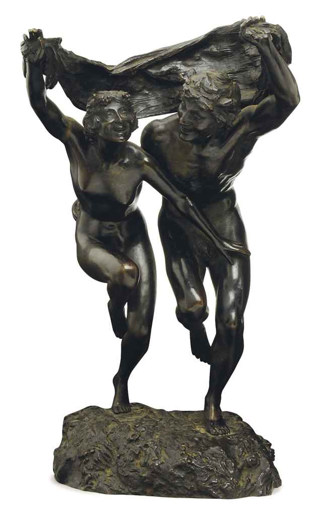 A Satyr and a Nymph Dancing