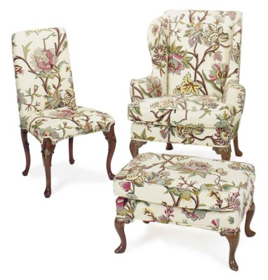A GROUP OF ENGLISH CREWELWORK-