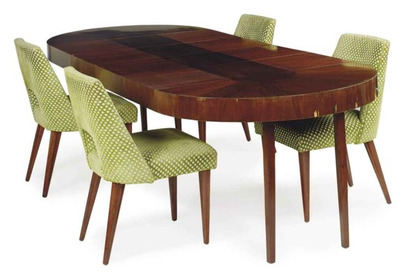A MAHOGANY DINING SUITE,