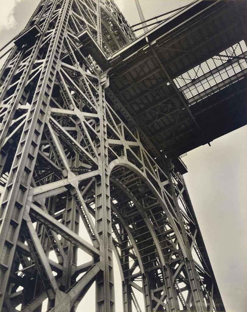 George Washington Bridge, Riverside Drive at 178th Street, Manhattan, January 17, 1936