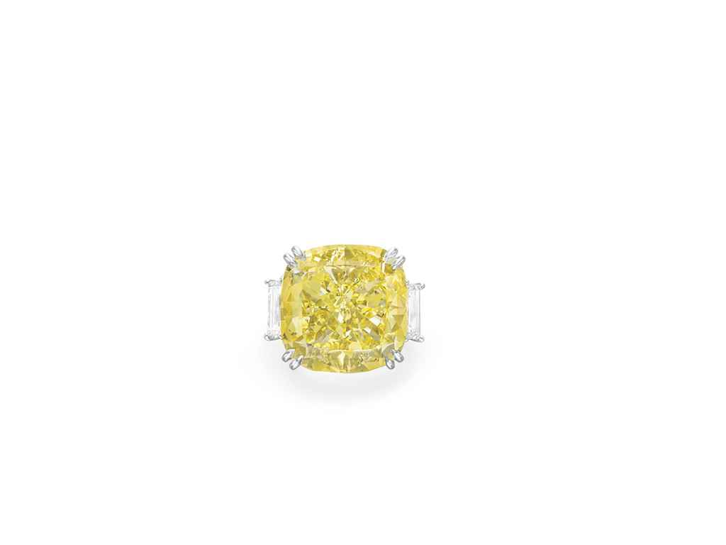 A COLORED DIAMOND RING, BY CARVIN FRENCH