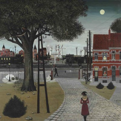 Paul delvaux 1897 1994 le passage niveau christie 39 s for Paul delvaux le miroir