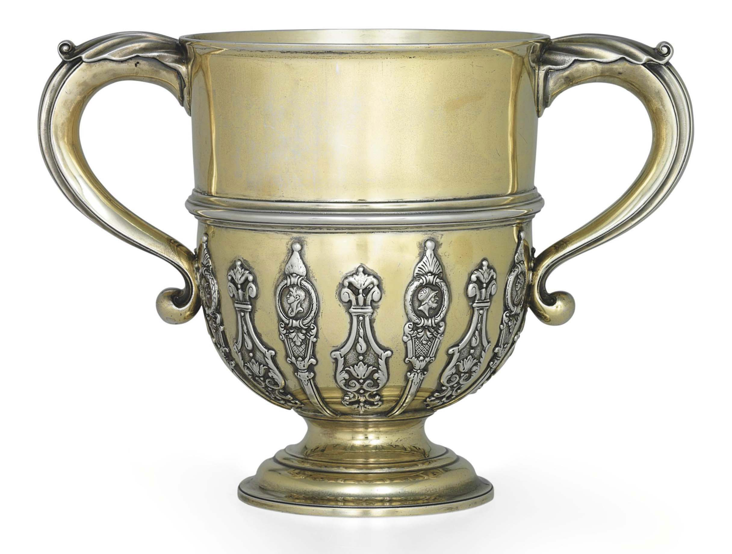 A GEORGE III SILVER-GILT CUP