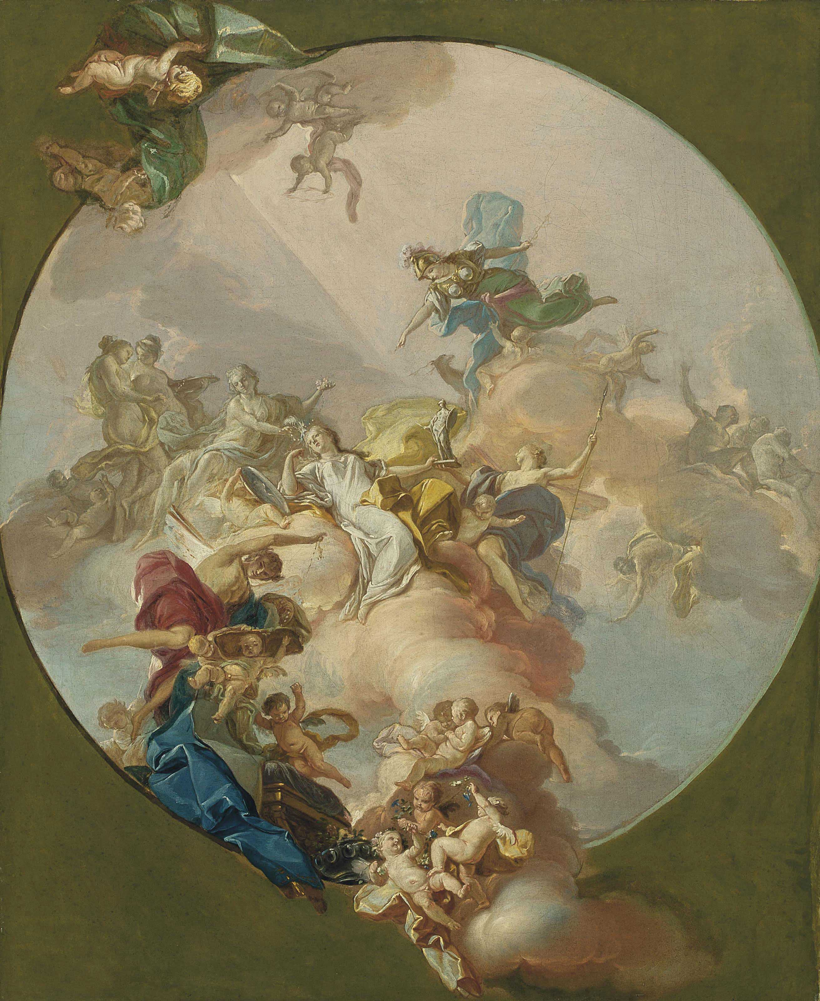 An allegory of peace, a preparatory study for a ceiling