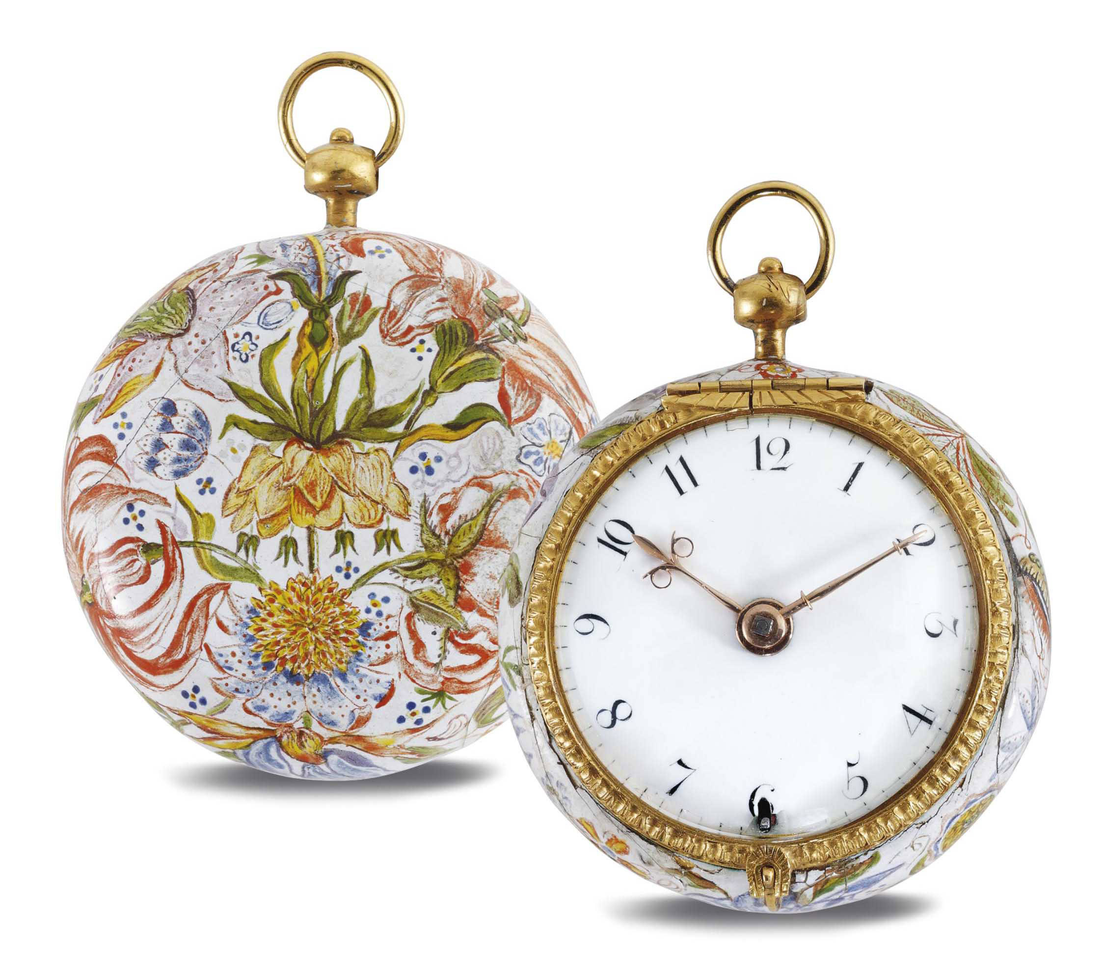 WEBSTER. A GOLD AND ENAMEL VERGE WATCH