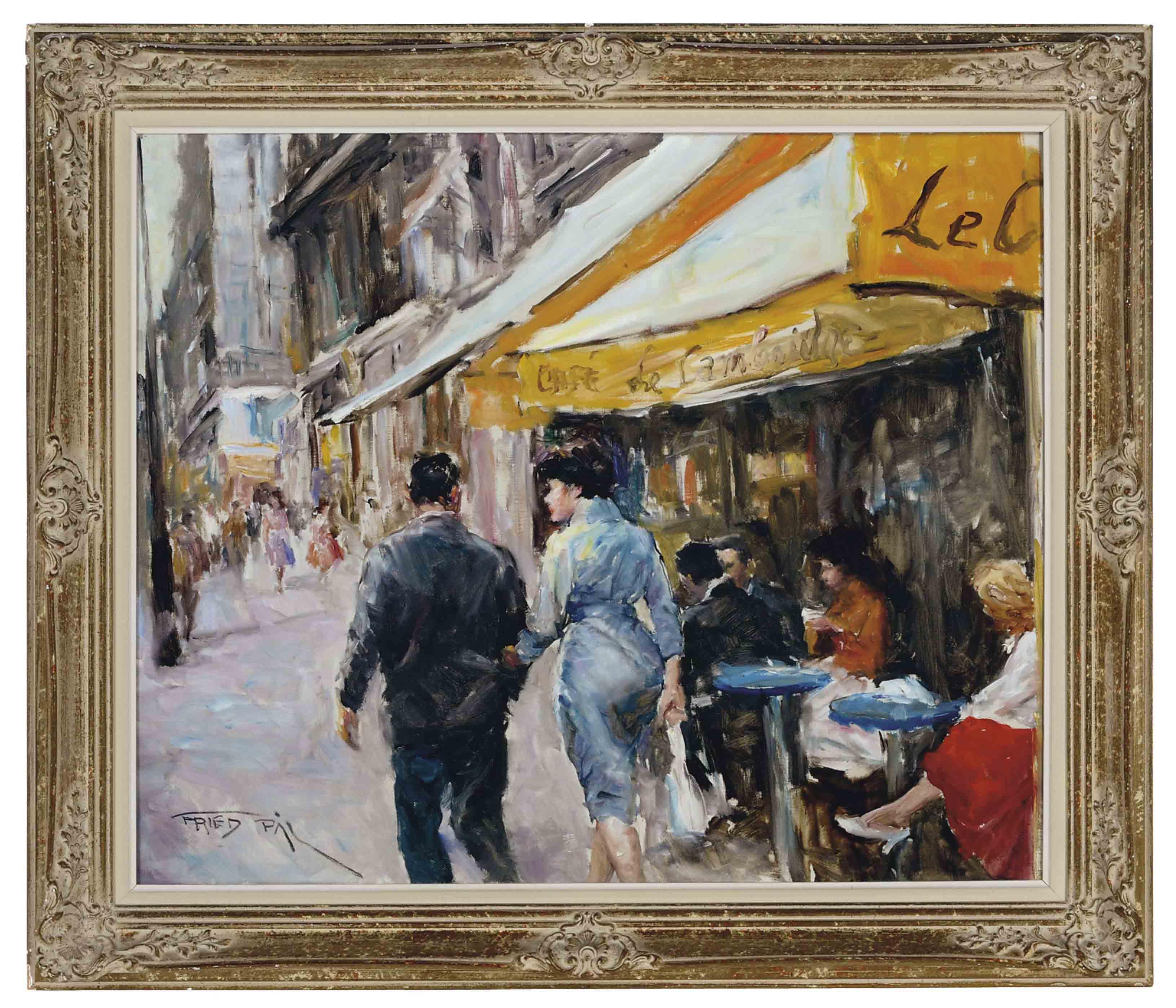 Strolling down a Parisian Street