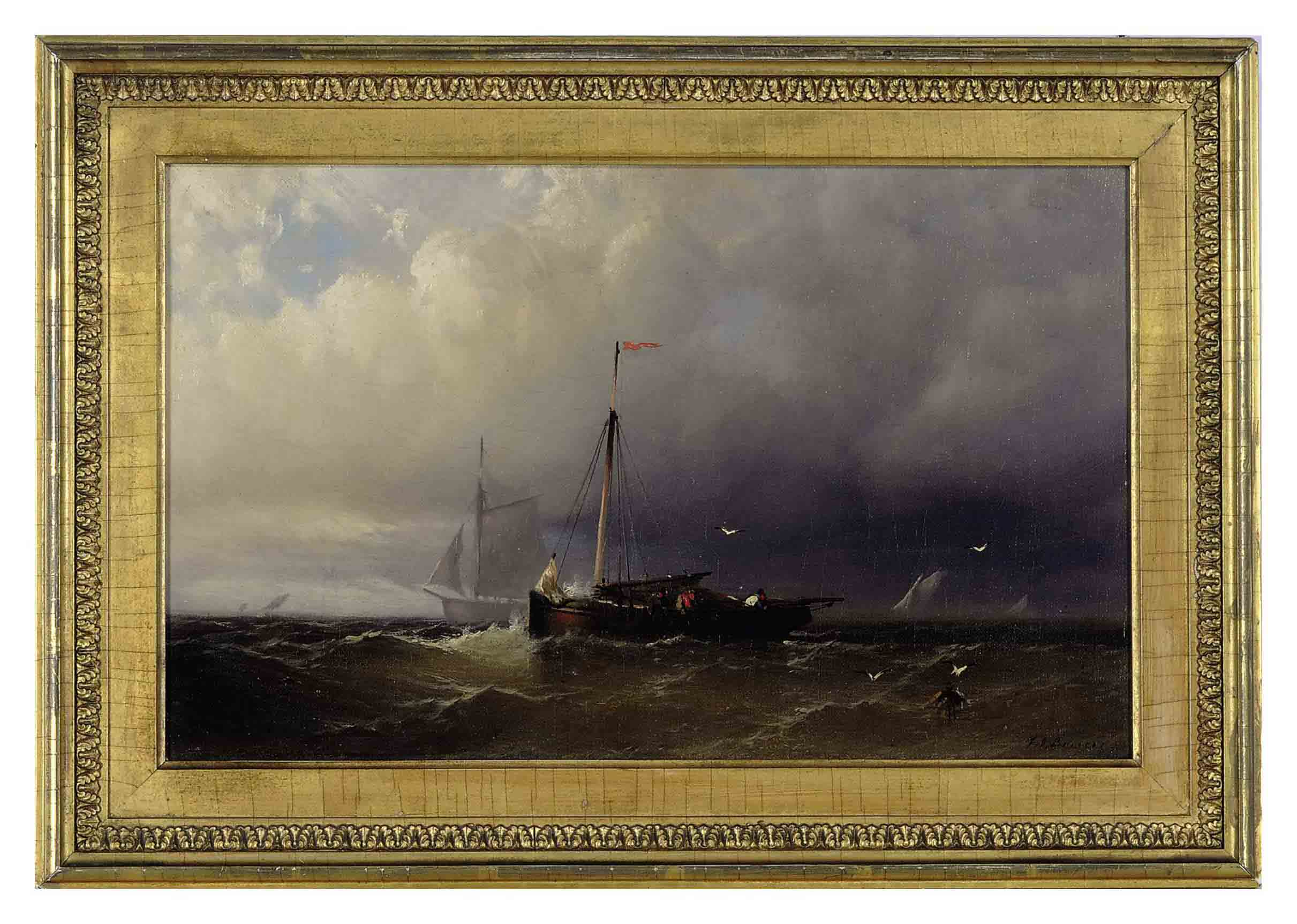 A fishing vessel at sea
