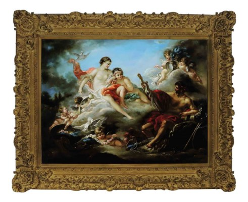A GILT-COMPOSITION FRAME WITH
