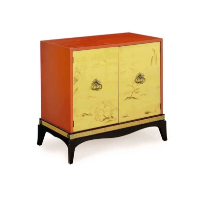 A CHINESE STYLE PARCEL-GILT AN