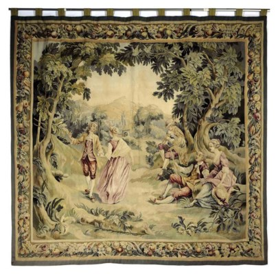 A FRENCH AUBUSSON FIGURAL TAPE