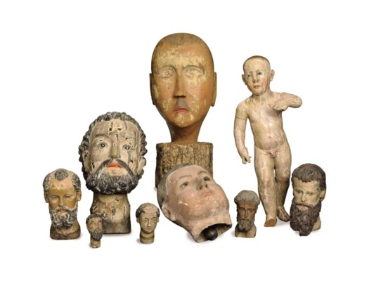A COLLECTION OF EIGHT CARVED A