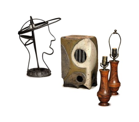A GROUP OF FOUR LAMPS,