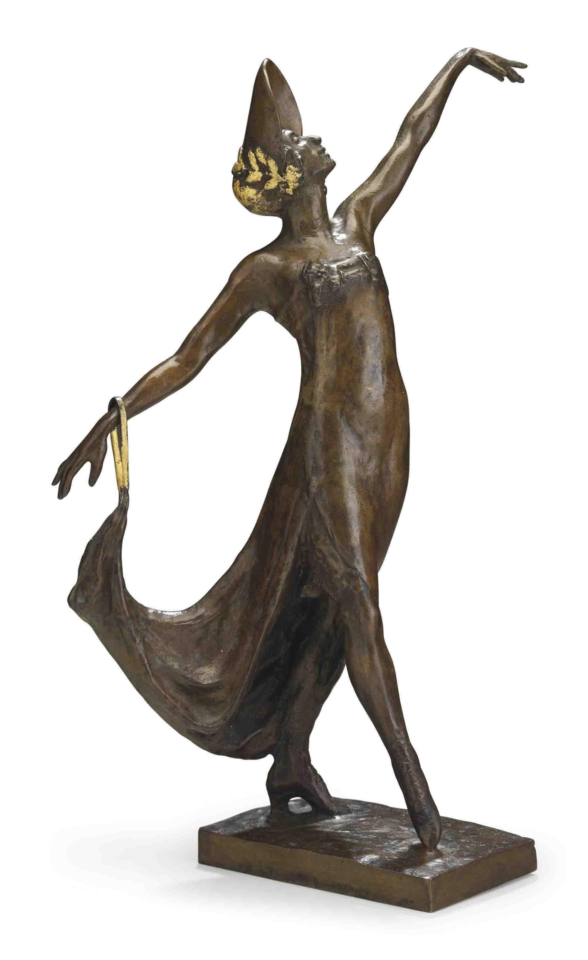 'La Gavotte': A Bronze Figure of Anna Pavlova