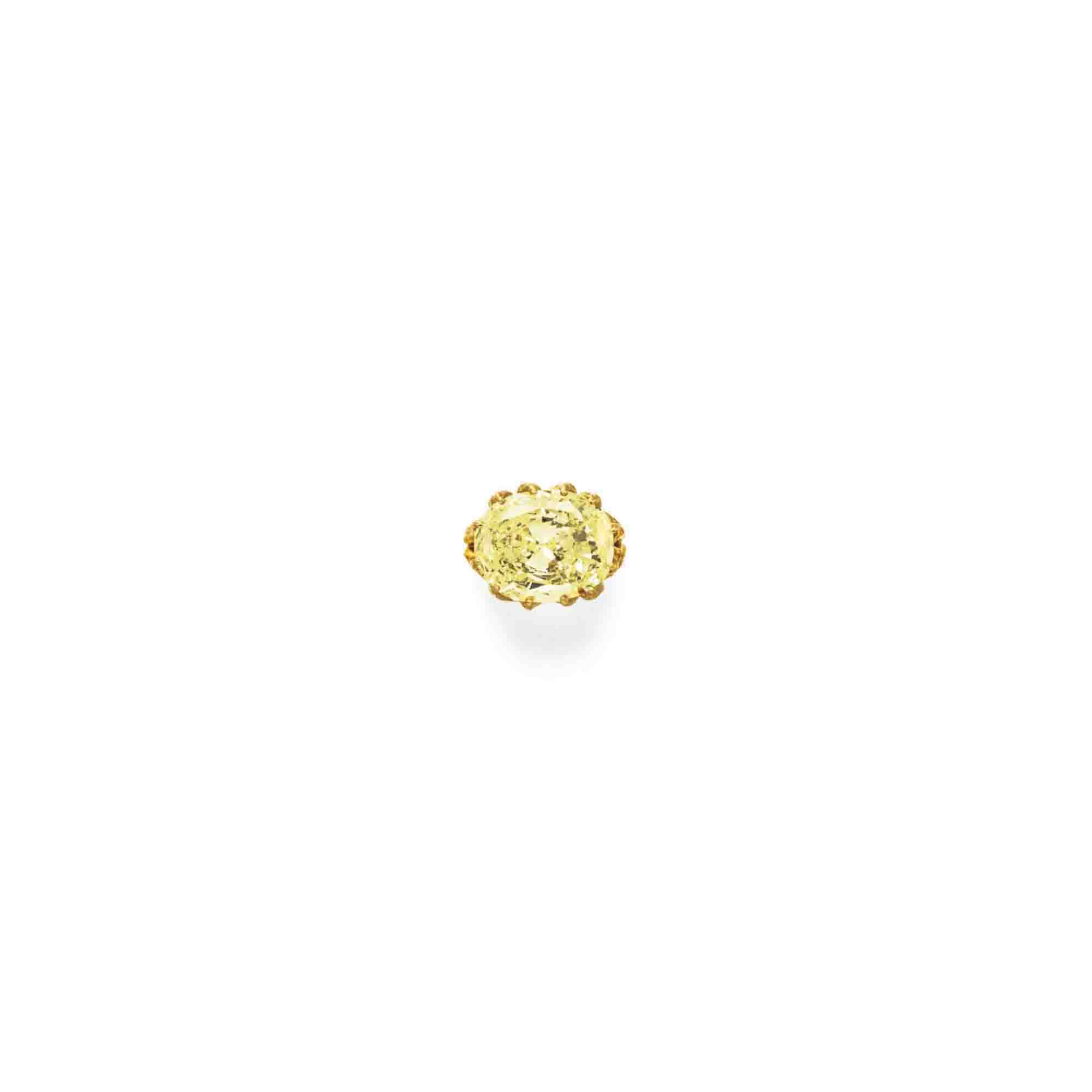 A COLORED DIAMOND RING, BY JULIUS COHEN