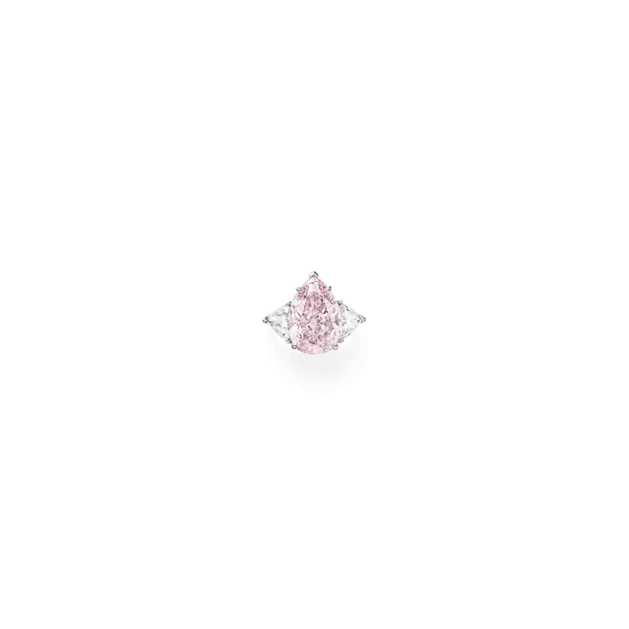 A FINE COLORED DIAMOND RING, BY TIFFANY & CO.