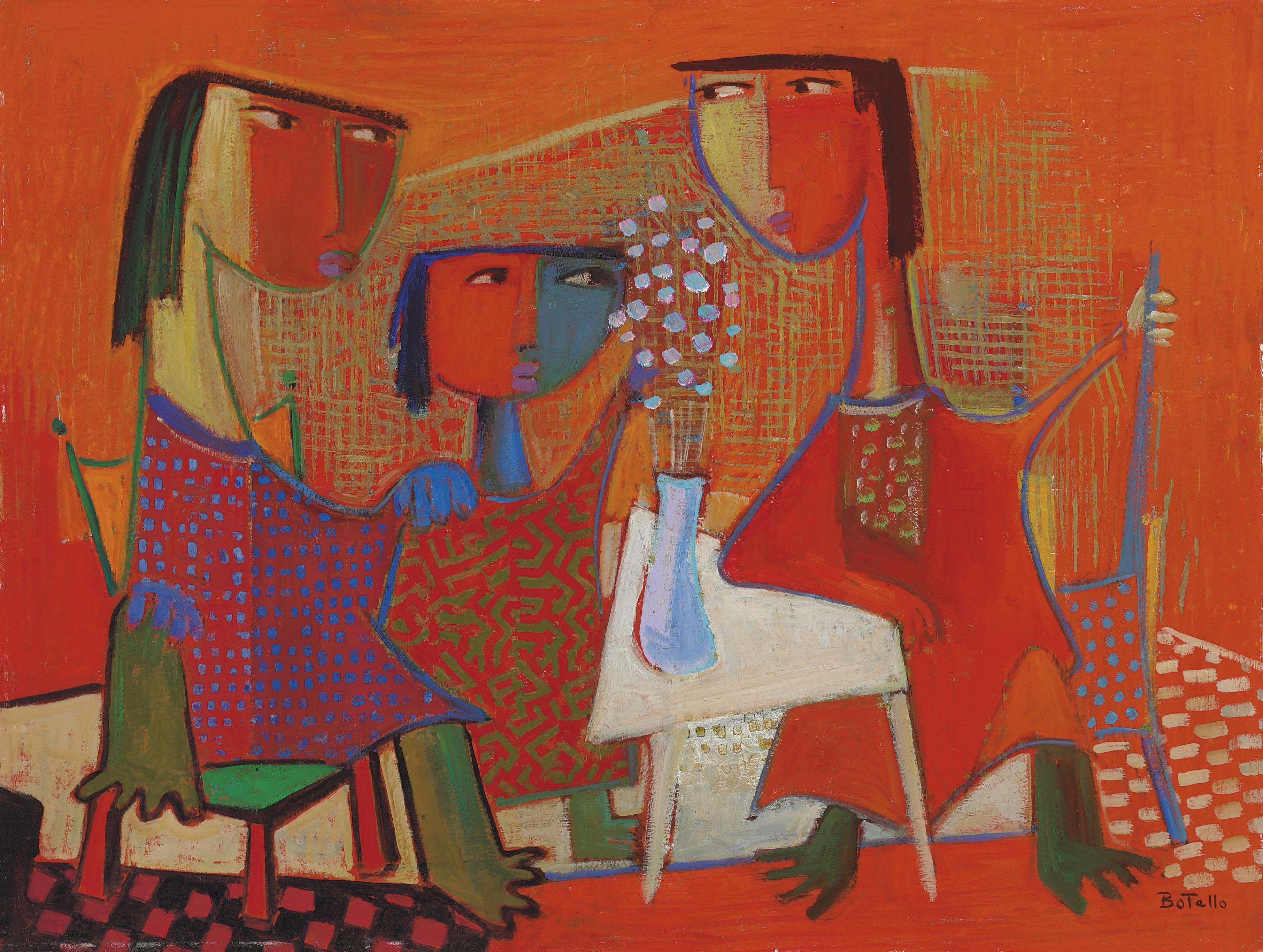 Three Women at Table