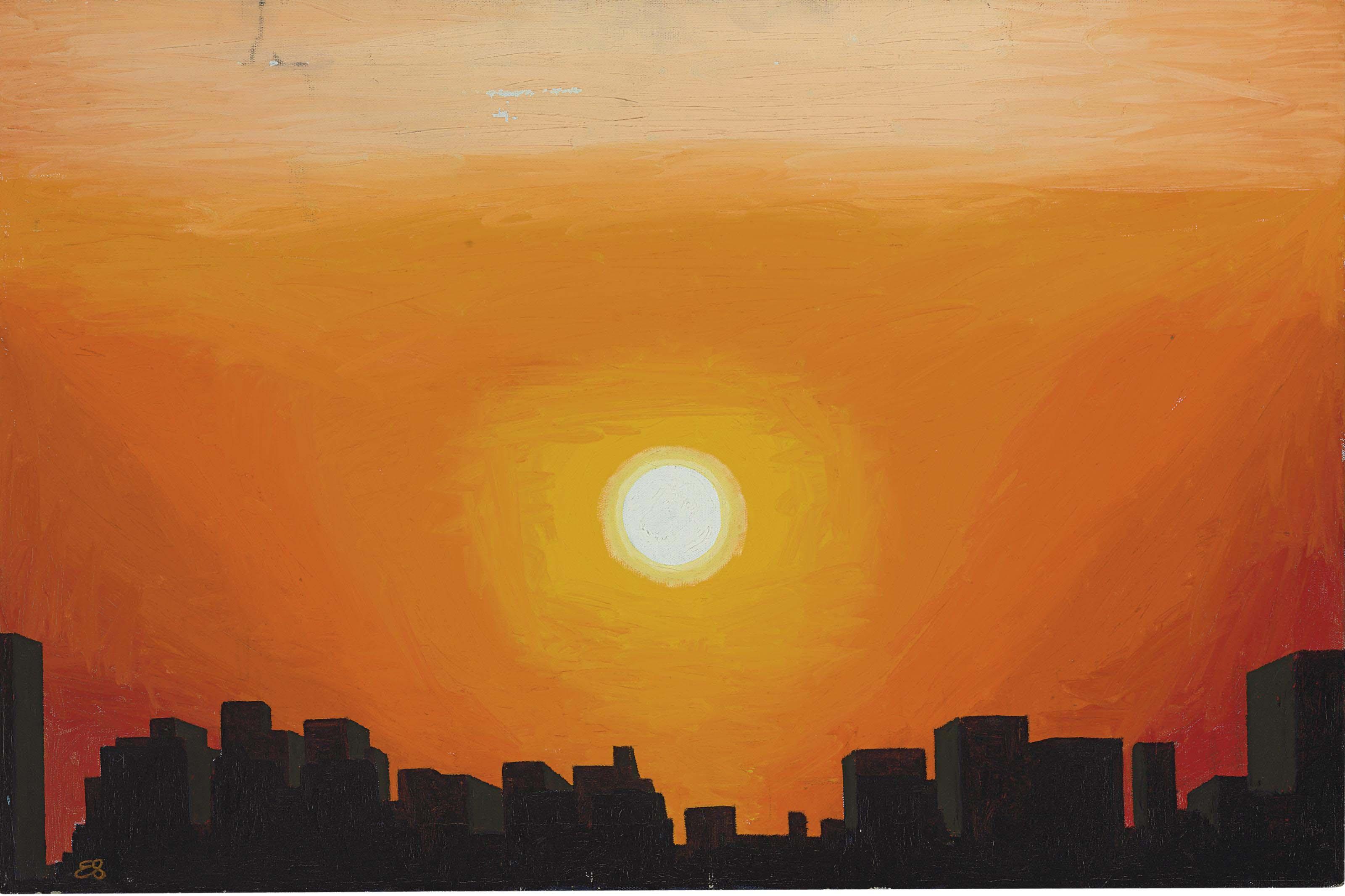 Untitled (Sunrise Over City)