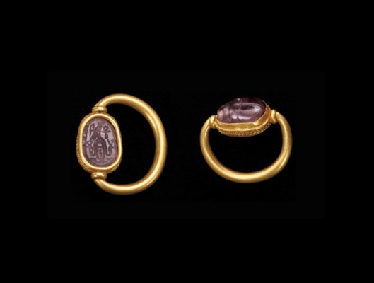 A PHOENICIAN ELECTRUM AND AMET
