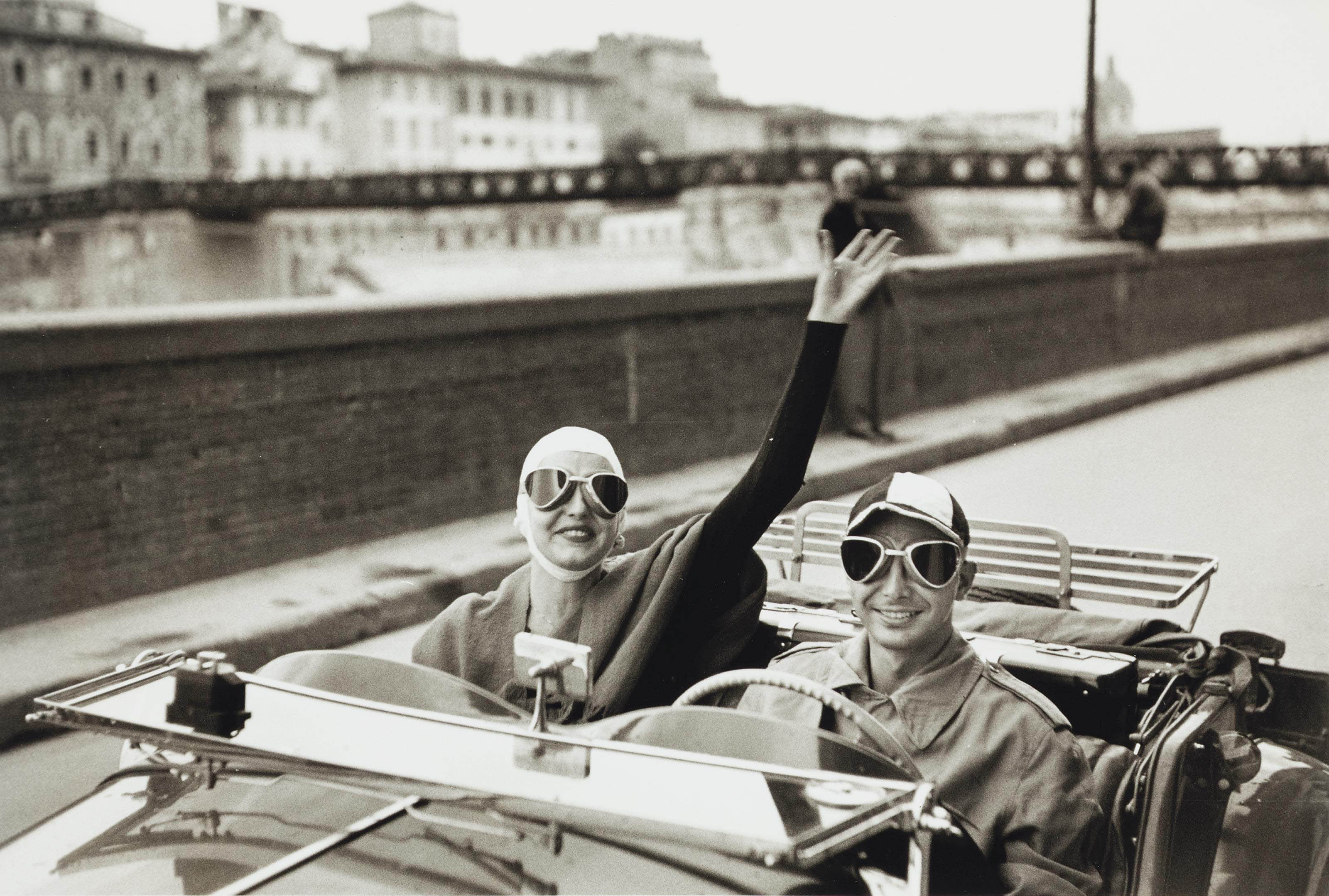 American Tourists in MG on Arno, Florence, Italy, 1951