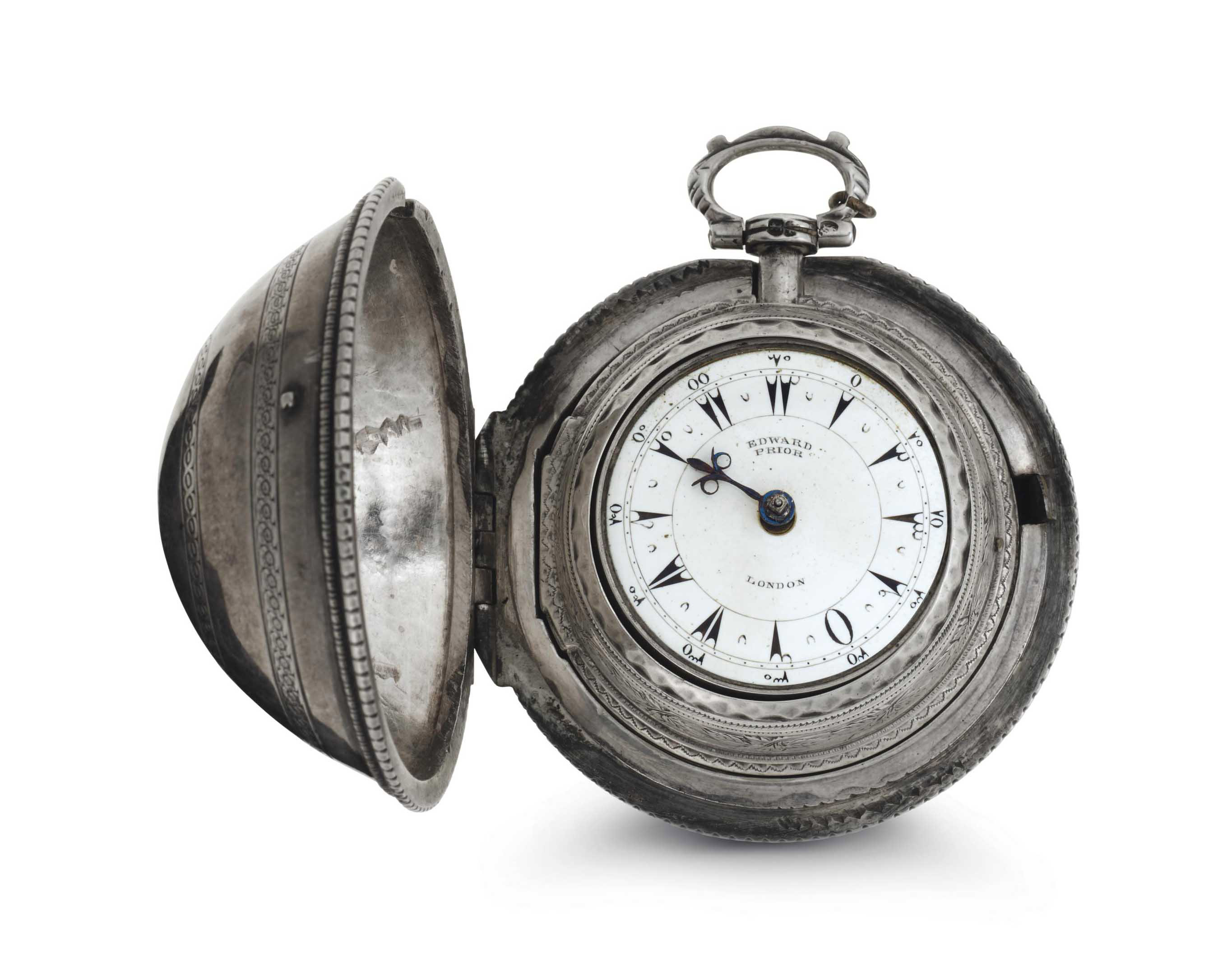 Edward Prior. A Fine Silver Triple Case Keywound Verge Watch Made For The Turkish Market