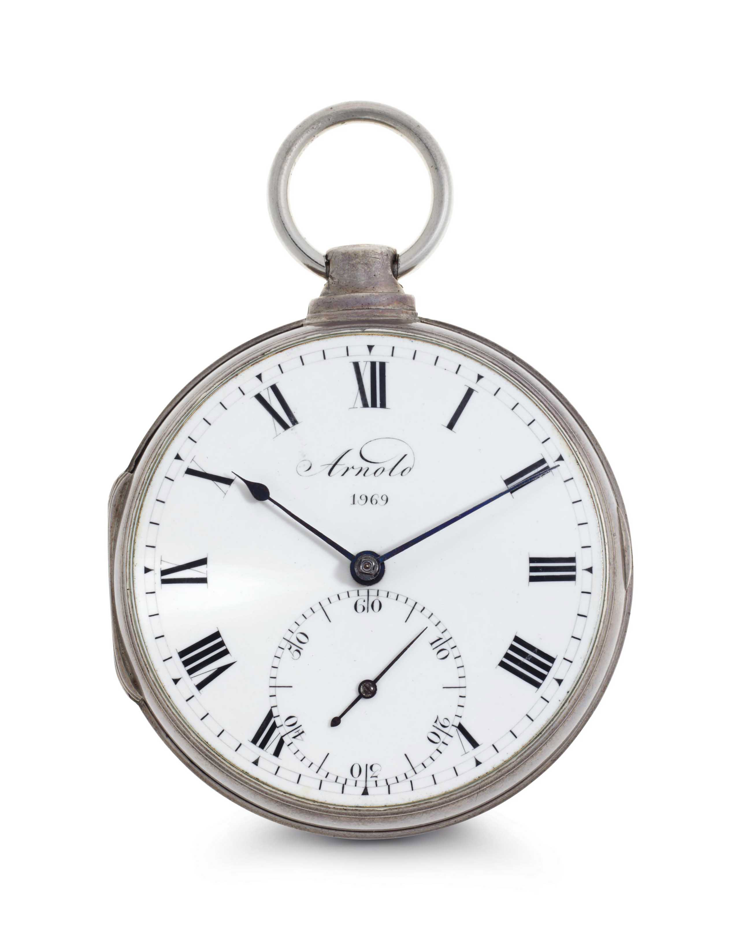 John Roger Arnold. A Silver Openface Key Wound Chronometer Watch With Z Balance