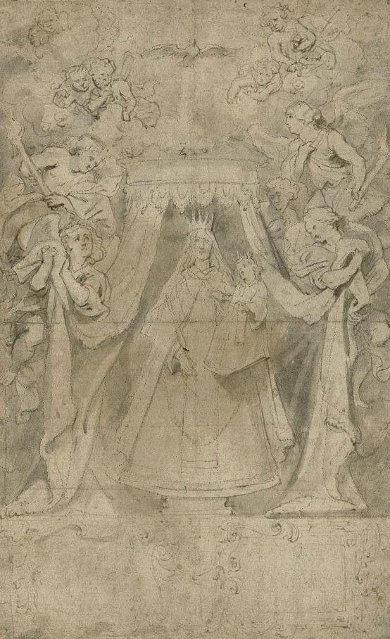 Our Lady of Mount Carmel: the Madonna and Child surrounded by angels