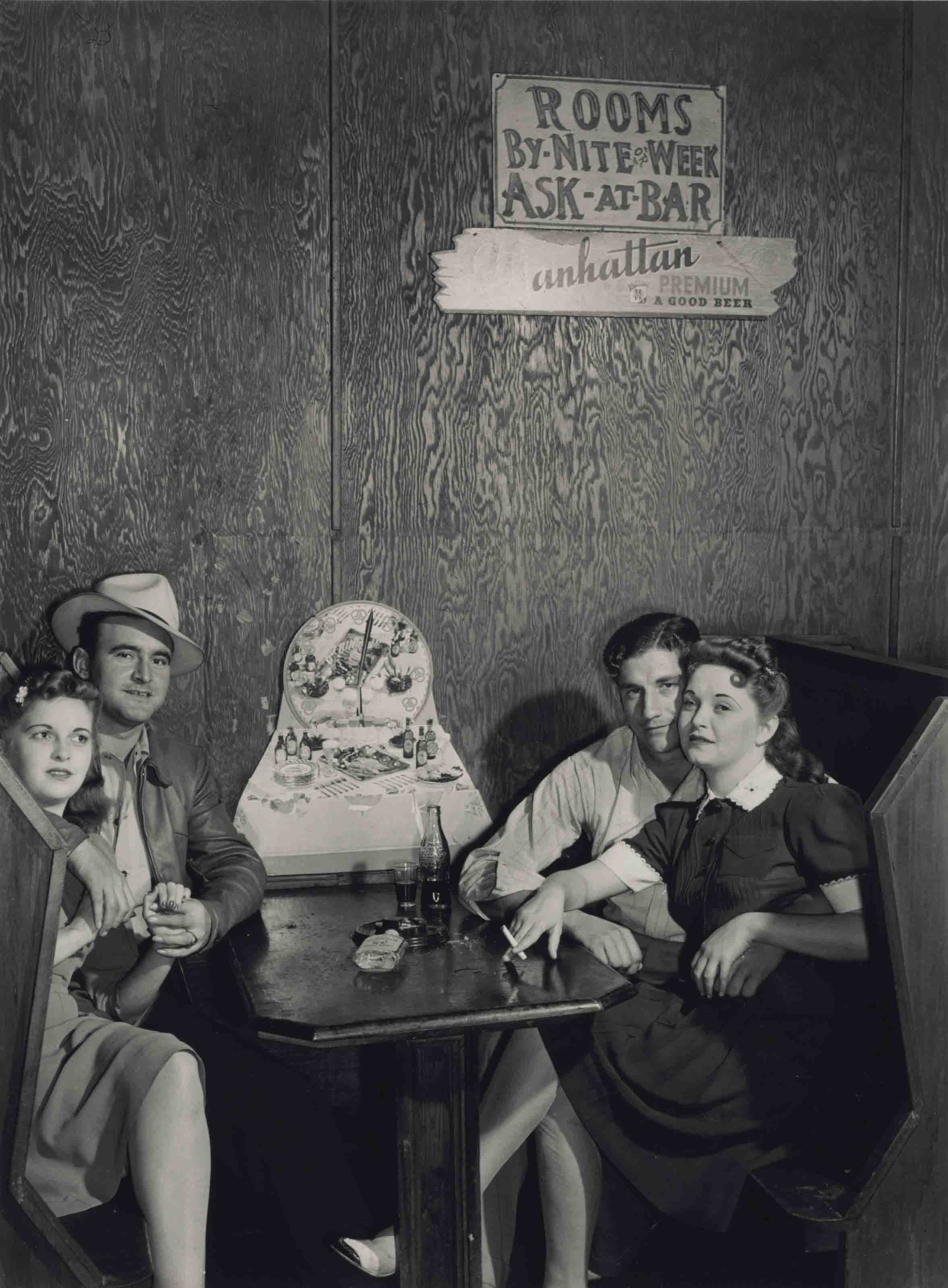 Two young couples in a juke joint, near Moore Haven, Florida, 1939