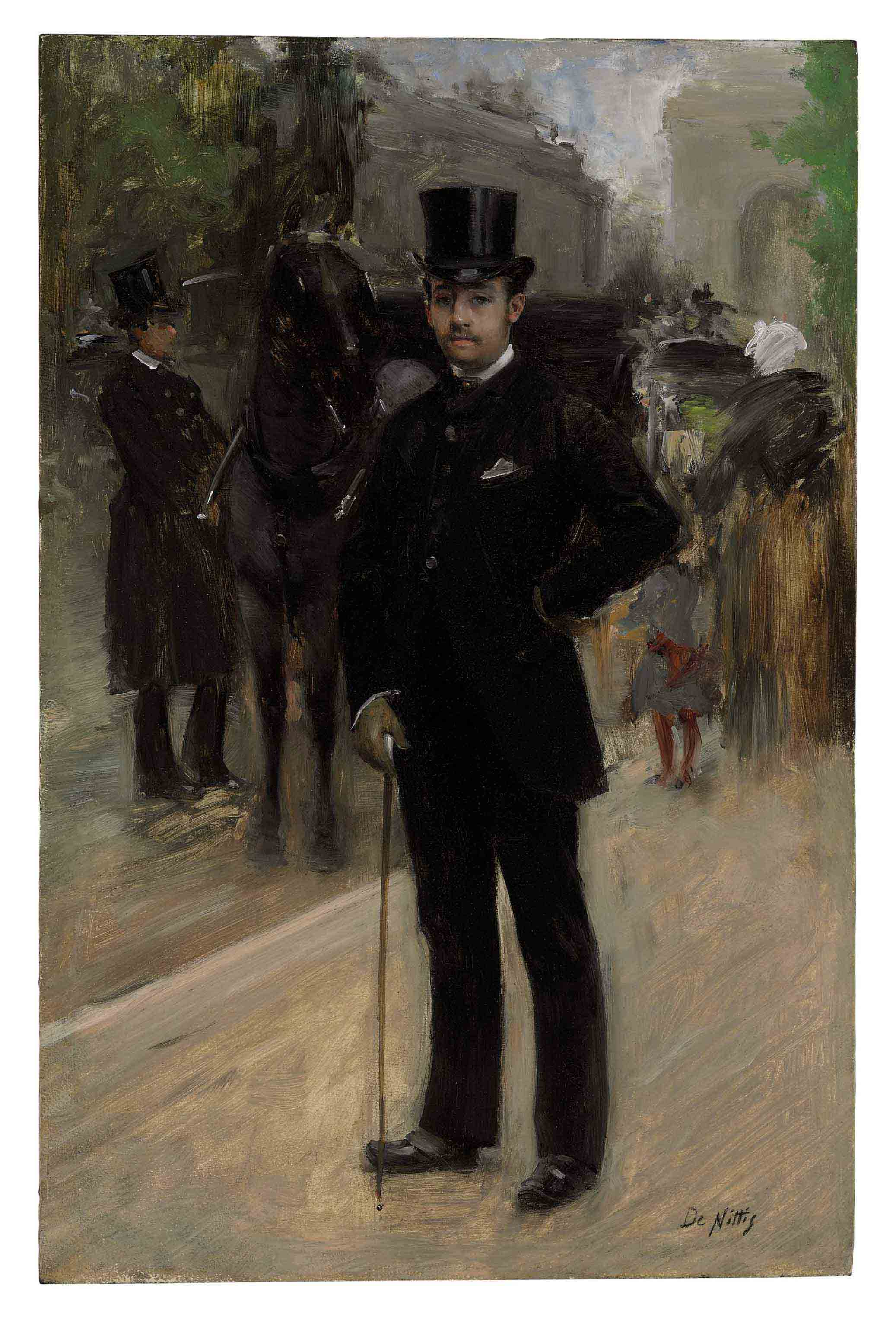 Portrait of a Gentleman on a Parisian Boulevard