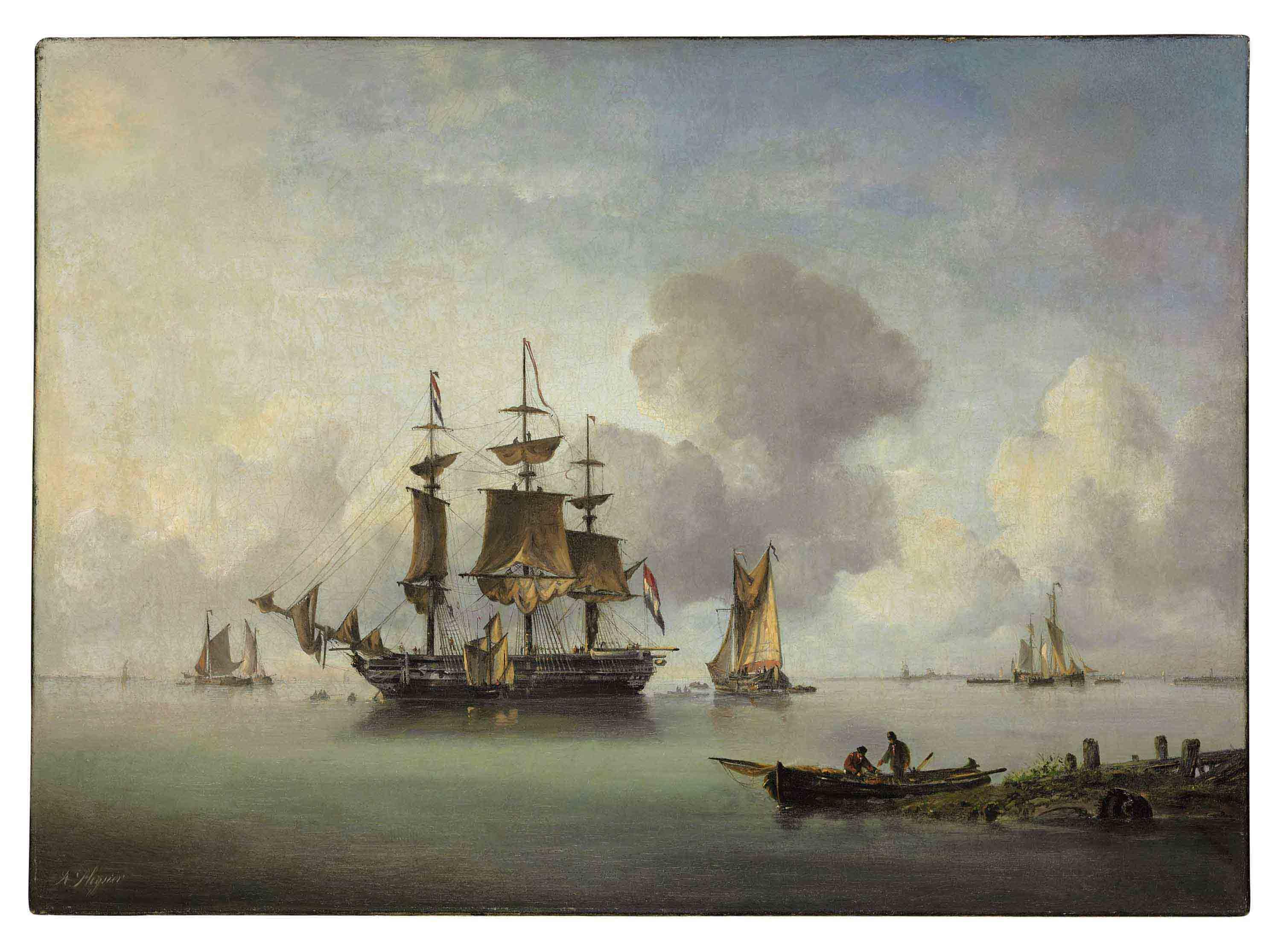Ships in a Calm Bay
