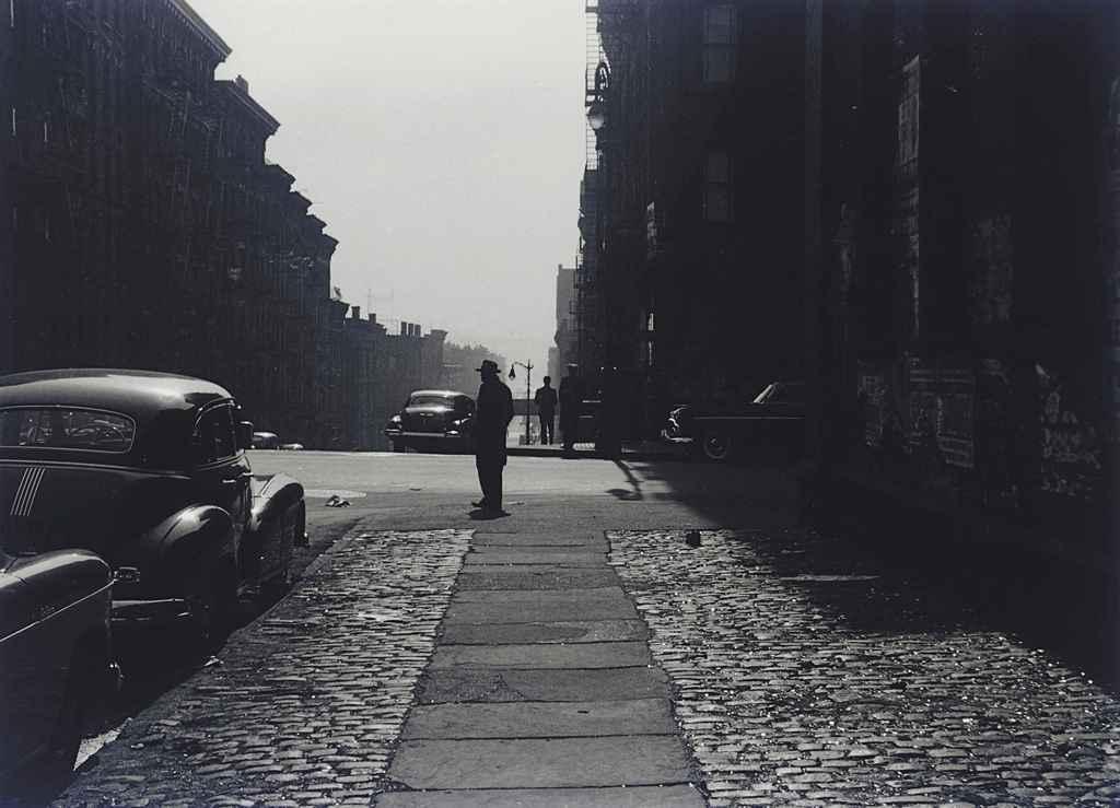 Three Men Standing on a Corner, Morning, 1950