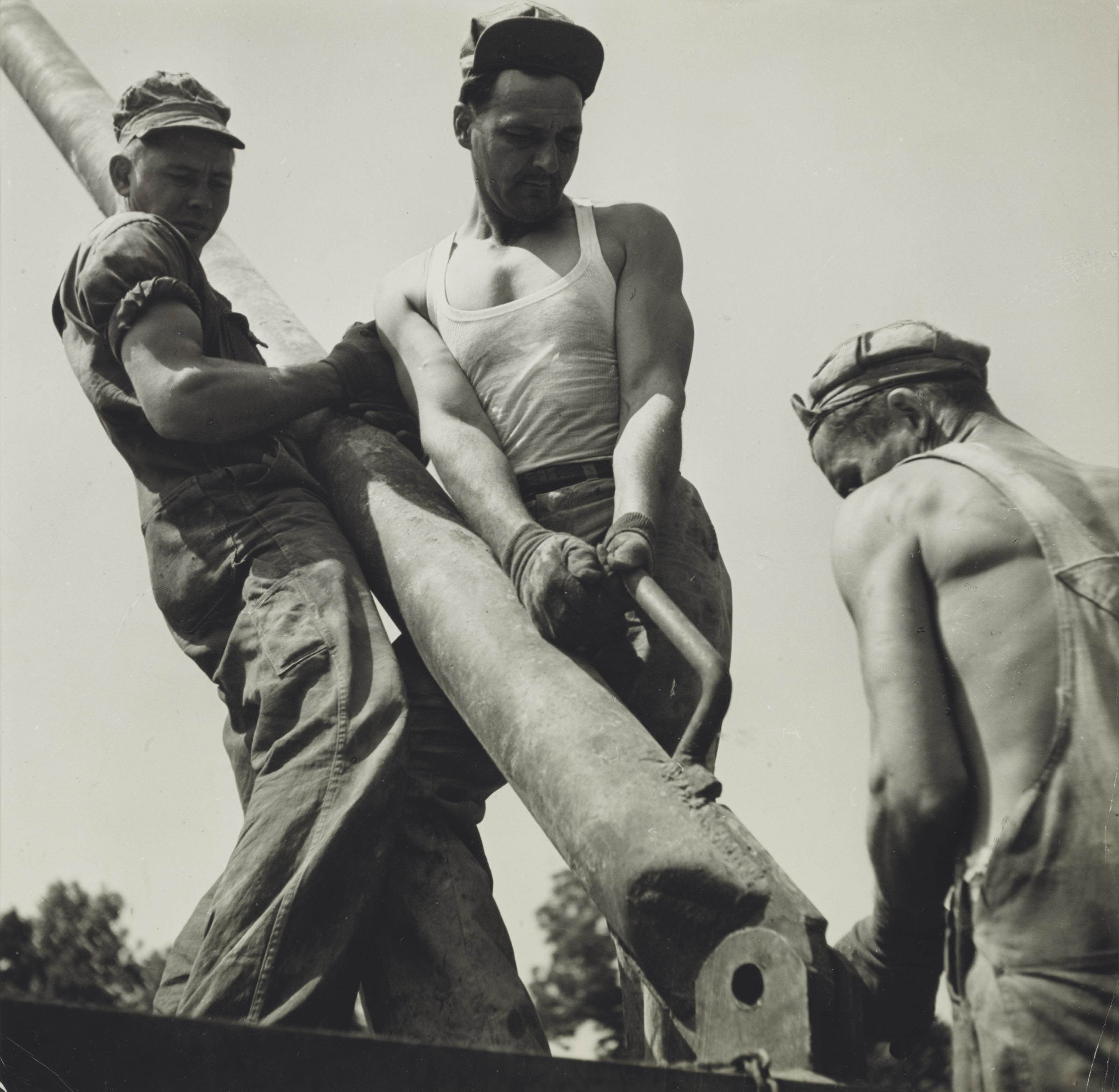 Roustabouts, Carter Oil Company, Gallantin County, Ill., September, 1944